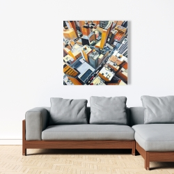 Canvas 36 x 36 - High top view of buildings in new york