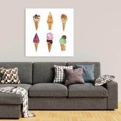 Canvas 36 x 36 - Ice cream cones