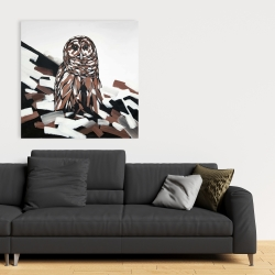 Canvas 36 x 36 - Tawny owl
