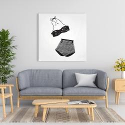 Canvas 36 x 36 - Vintage women's swimsuit