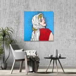 Canvas 36 x 36 - Pop art woman