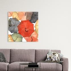 Canvas 36 x 36 - The umbrellas of petit champlain