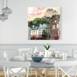 Canvas 36 x 36 - Château frontenac in the petit champlain