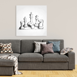Canvas 36 x 36 - Chess game pieces