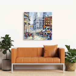 Canvas 36 x 36 - Busy street by a sunny day 1