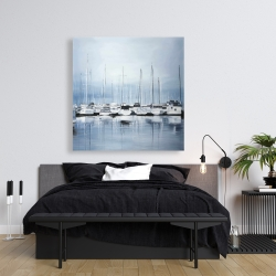 Canvas 36 x 36 - Boats at the dock 2