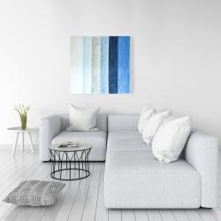 Canvas 36 x 36 - Blue stripes