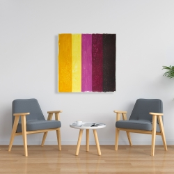 Canvas 36 x 36 - Live stripes