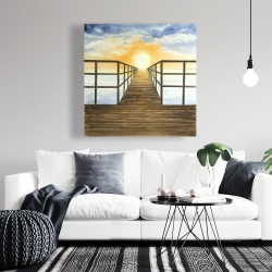 Canvas 36 x 36 - Sunset in the sea