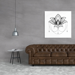 Canvas 36 x 36 - Ethnic lotus ornament