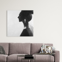 Toile 36 x 36 - Femme chic