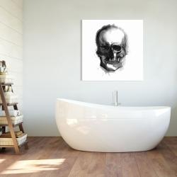 Canvas 36 x 36 - Watercolor dark skull