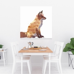 Canvas 36 x 36 - Red fox