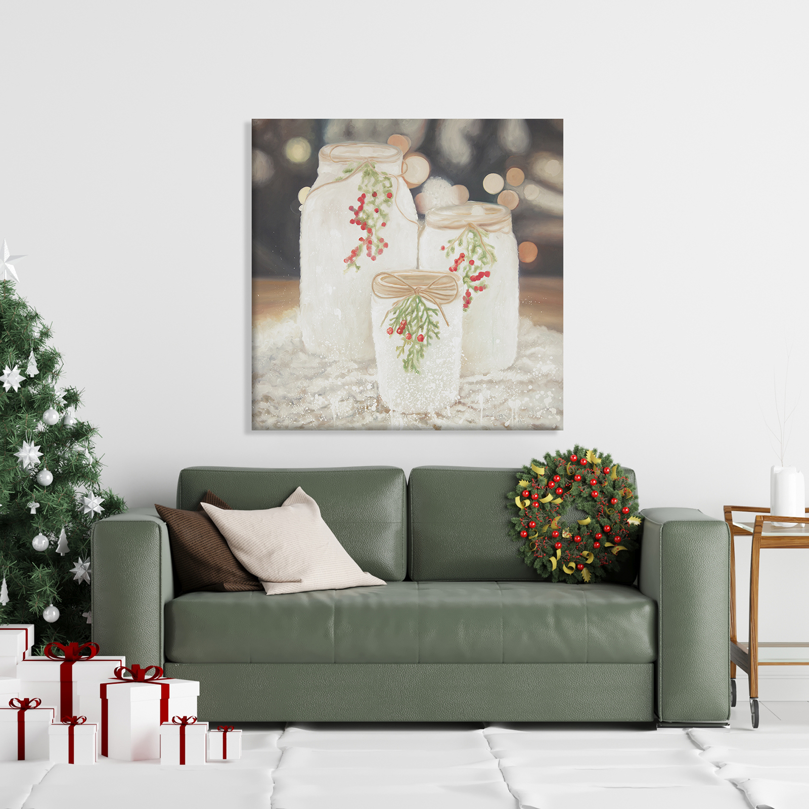 Canvas 36 x 36 - Christmas candles