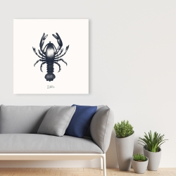 Canvas 36 x 36 - Blue lobster