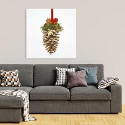 Toile 36 x 36 - Cocotte de noël