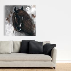 Canvas 36 x 36 - Dark brown horse
