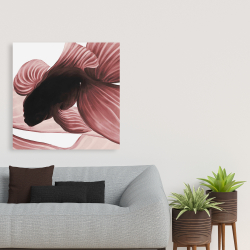 Canvas 36 x 36 - Two red betta