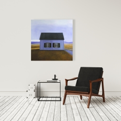 Canvas 36 x 36 - Blue barn