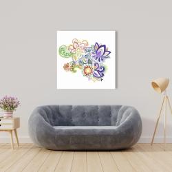 Toile 36 x 36 - Paisley aquarelle