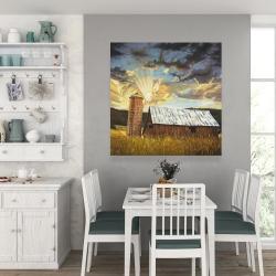 Canvas 36 x 36 - Hay barn