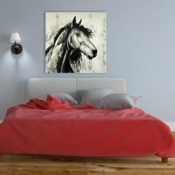 Toile 36 x 36 - Cheval spirit