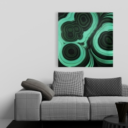 Canvas 36 x 36 - Malachite stone