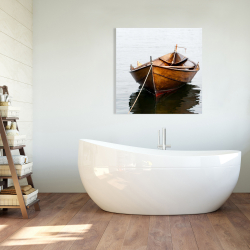 Canvas 36 x 36 - Rowboat on calm water