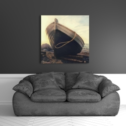 Canvas 36 x 36 - Rowboat at the water's edge