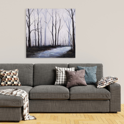 Canvas 36 x 36 - Sad forest