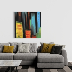 Canvas 36 x 36 - Abstract tall buildings