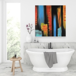 Canvas 36 x 36 - Abstract and colorful tall buildings