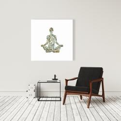 Toile 36 x 36 - Attitude zen