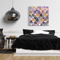Canvas 36 x 36 - Purple like a mermaid