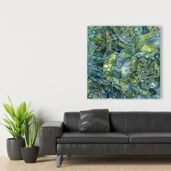 Toile 36 x 36 - Succulents abstrait