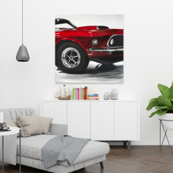 Canvas 36 x 36 - Classic red car