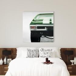Canvas 36 x 36 - Classic dark green car