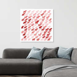 Canvas 36 x 36 - X red pattern