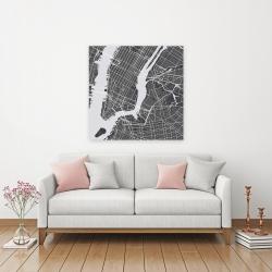 Canvas 36 x 36 - New-york city plan