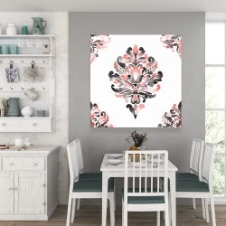 Canvas 36 x 36 - Coral baroque ornament