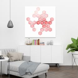 Canvas 36 x 36 - Alveoli red