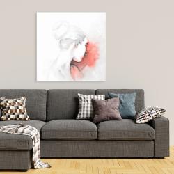 Canvas 36 x 36 - Pastel woman