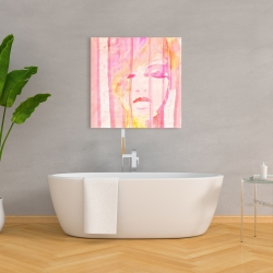 Canvas 36 x 36 - Abstract portrait feminine