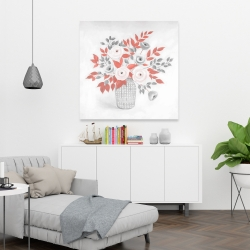 Canvas 36 x 36 - Flower illustration