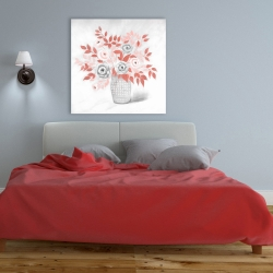 Canvas 36 x 36 - Coral flower illustration
