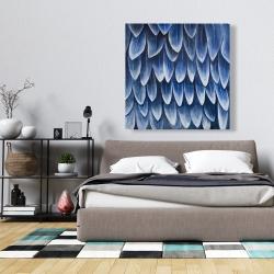 Canvas 36 x 36 - Plumage blue