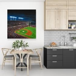 Toile 36 x 36 - Partie de baseball