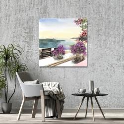 Canvas 36 x 36 - Mediterranean sea view