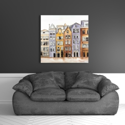 Canvas 36 x 36 - Amsterdam houses hotel