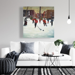 Canvas 36 x 36 - Young hockey players